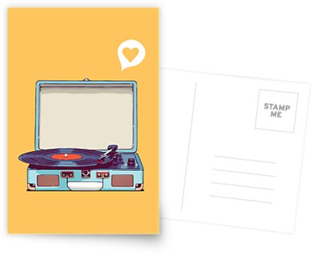 Blue Vinyl Record Player by sundrystudio