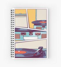 Cuaderno de espiral Reproductor de discos de vinilo azul