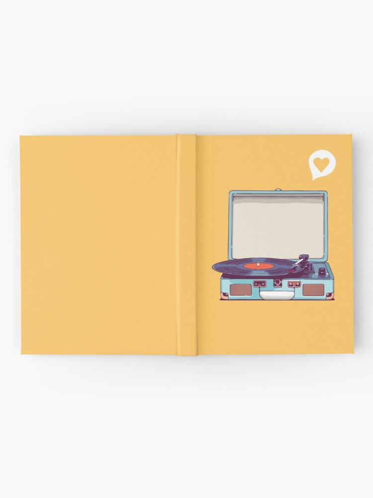 Alternate view of Blue Vinyl Record Player Hardcover Journal