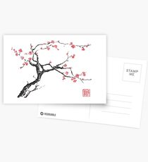 New hope sumi-e painting Postcards