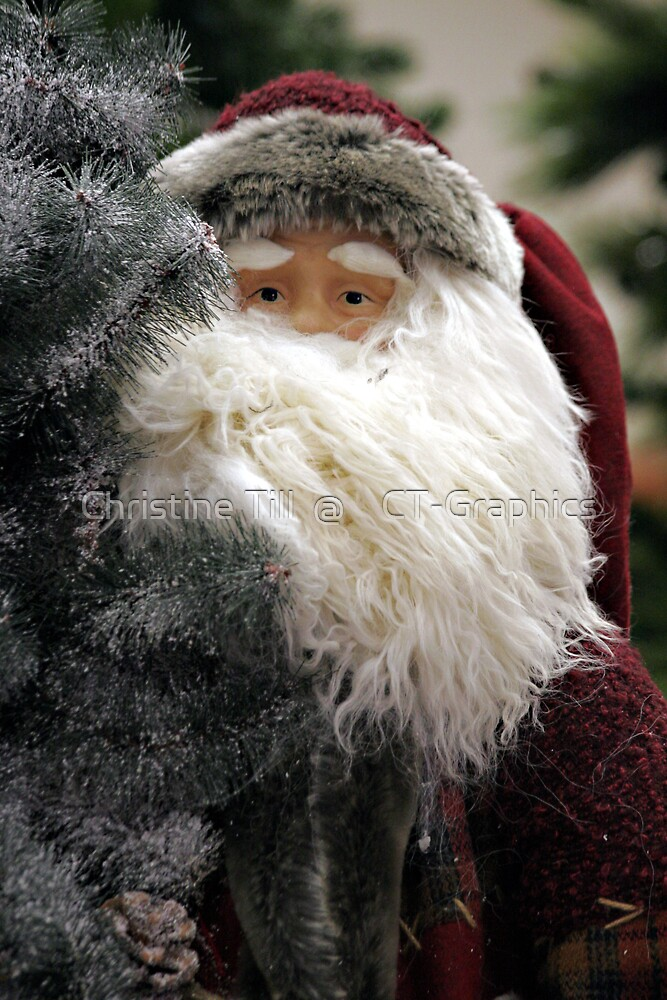 Santa Claus Christmas Card by Christine Till  @    CT-Graphics