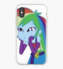 MLP Rainbow Dash Equestria Girl iphone 6 plus phone case iPhone Case