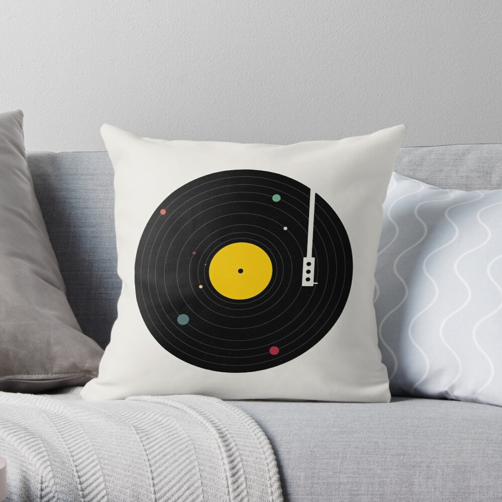 Music Everywhere Throw Pillow