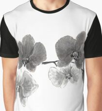Curious orchid sumi-e painting  Graphic T-Shirt