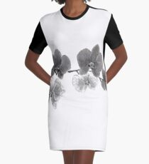 Curious orchid sumi-e painting  Graphic T-Shirt Dress
