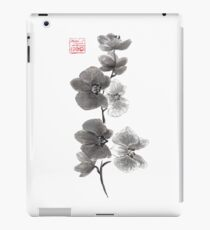 Curious orchid sumi-e painting  iPad Case/Skin