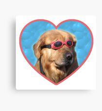 Doggo Stickers: Swimmer Dog Canvas Print