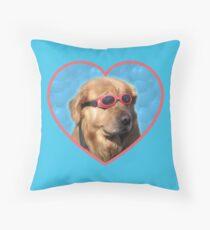 Doggo Stickers: Swimmer Dog Throw Pillow