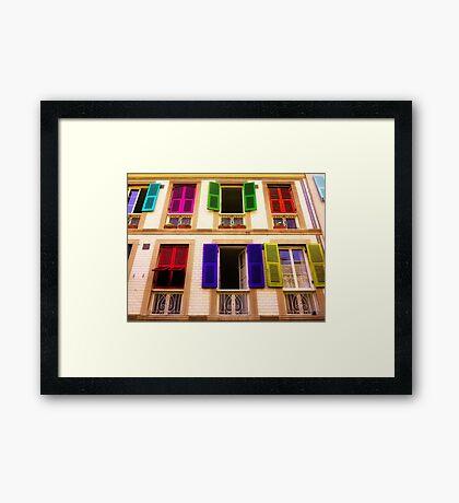 Colourful Windows Framed Print