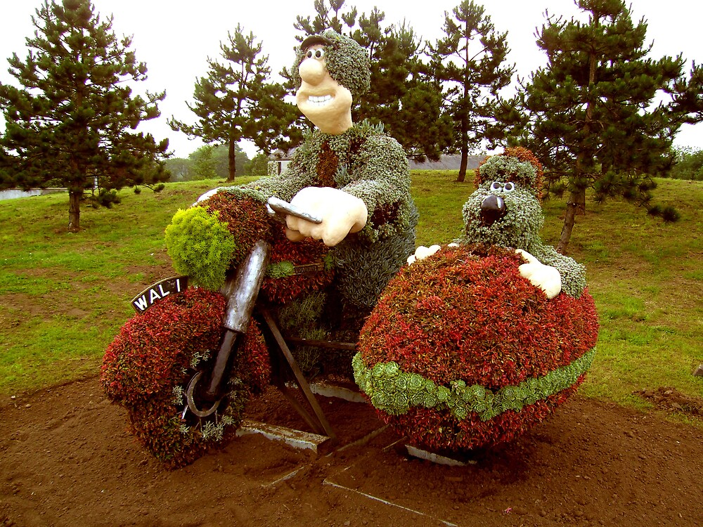 Wallace & Grommit living plant art  by SNAPPYDAVE