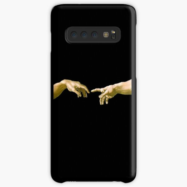 Touch of God, The Creation of Adam, (close up), Michelangelo, 1510, Genesis, Ceiling, Sistine Chapel, Rome, on BLACK. Samsung Galaxy Snap Case