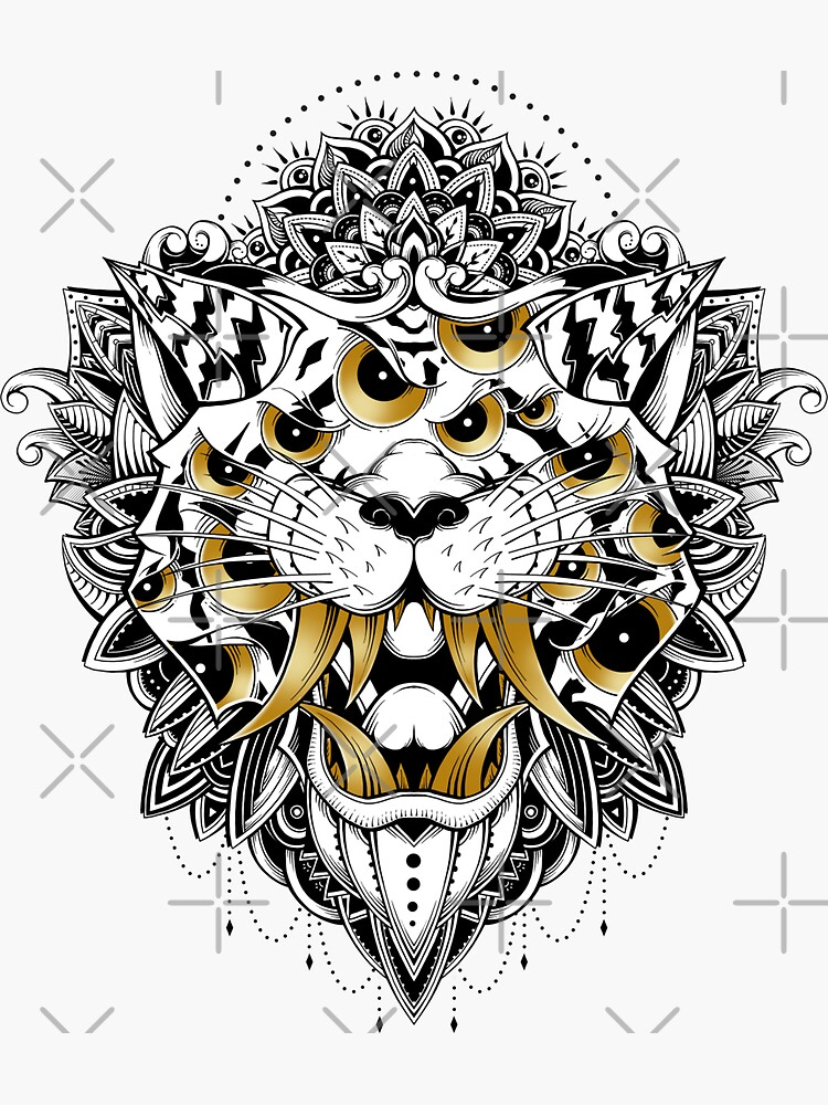 Gold Eyed Tiger by GODZILLARGE