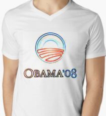 Obama 08 Men's V-Neck T-Shirt