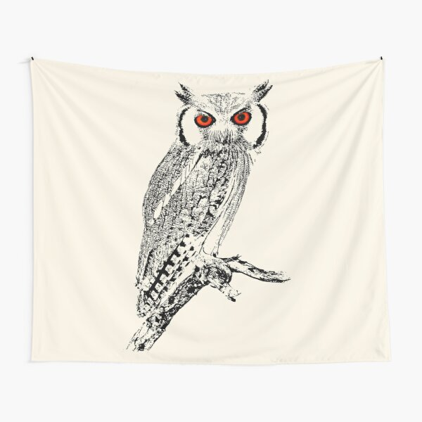 Southern White-faced Owl   African Wildlife Tapestry