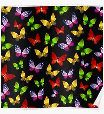 Midnight Butterfly Dance Poster