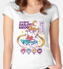 Sailor Meow Fitted Scoop T-Shirt