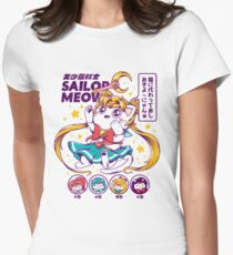 Sailor Meow Fitted T-Shirt
