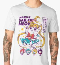 Sailor Meow T-shirt premium homme