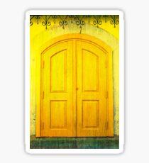 Yellow Door Sticker