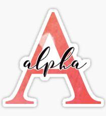 Alpha Sticker: greek letters sorority  Sticker