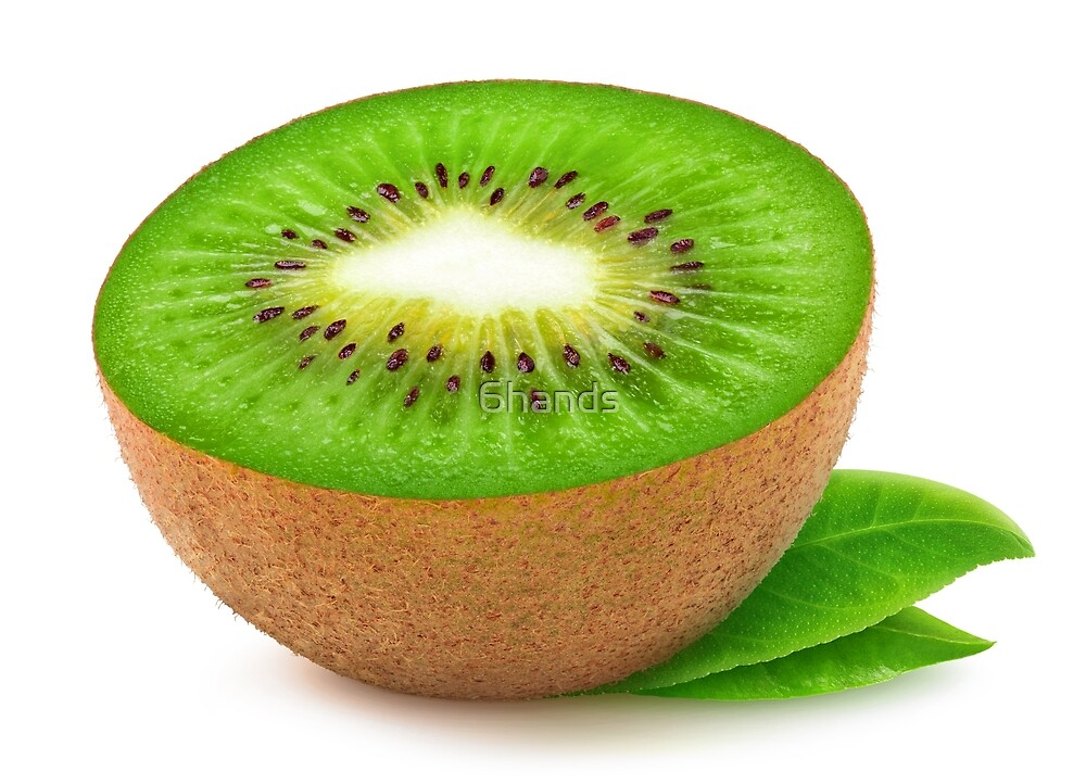 Half of kiwi fruit by 6hands