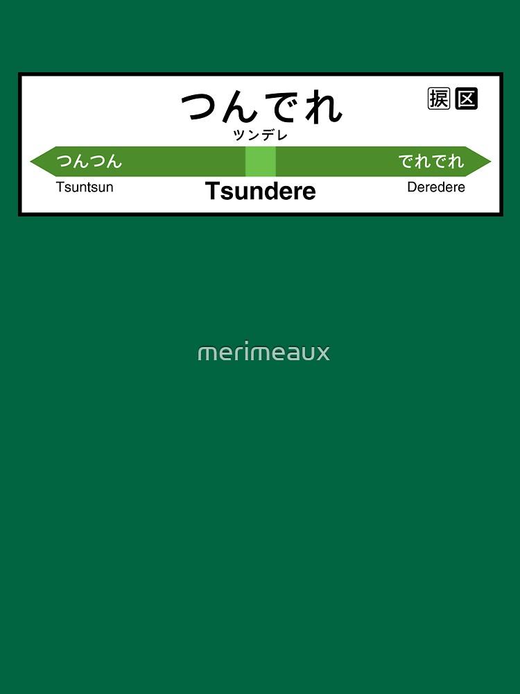 Tsundere Station • つんでれ駅 by merimeaux