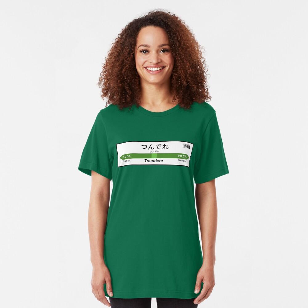 Tsundere Station • つんでれ駅 Slim Fit T-Shirt
