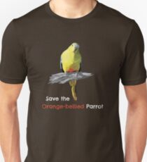 Save the Orange-bellied Parrot items (dark background colours) Unisex T-Shirt