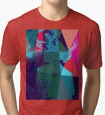 Girl in retro hat Tri-blend T-Shirt