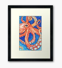 Octopus drawing - 2015 Framed Print