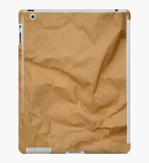 Crumpled Brown Parcel Paper Pattern Texture Background iPad Case/Skin