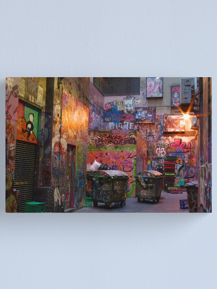 Alternate view of Centre Place Court Canvas Print