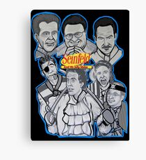 Seinfeld and his jolly mates Canvas Print