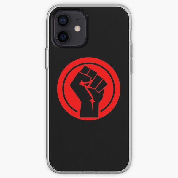 RED Black socialist fist iPhone Soft Case