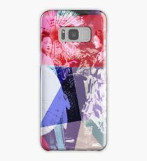 Japanese geishas with umbrellas in colorful abstract style Samsung Galaxy Case/Skin