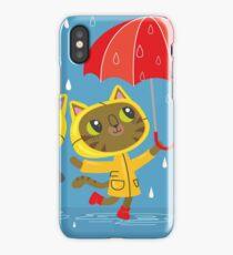 Rainy Day Kitty Cats iPhone Case/Skin
