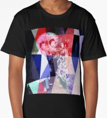 Japanese geishas with umbrellas in colorful abstract style Long T-Shirt
