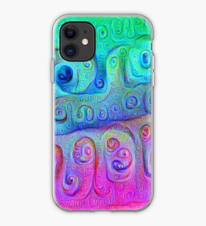 DeepDream Cyan to Magenta 5K iPhone Case