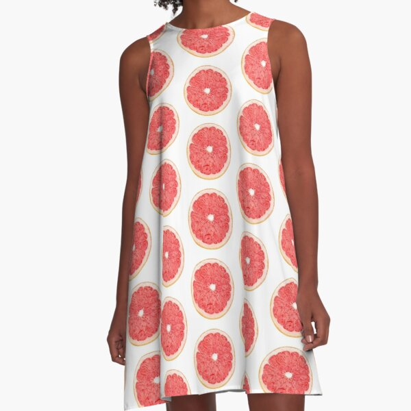 Slice of grapefruit A-Line Dress
