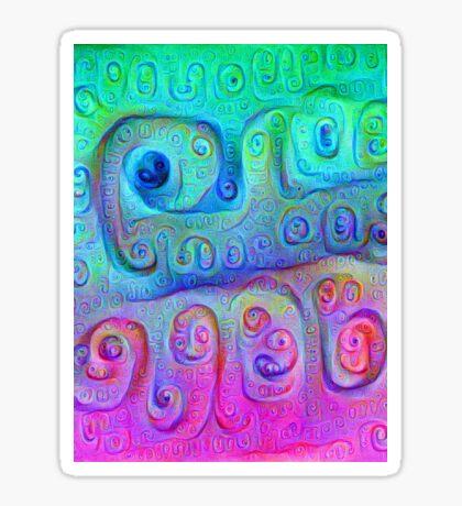 DeepDream Cyan to Magenta 5K Sticker