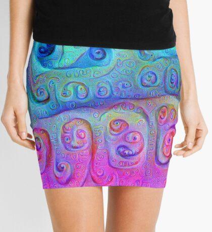 DeepDream Cyan to Magenta 5K Mini Skirt