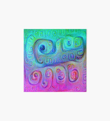 DeepDream Cyan to Magenta 5K Art Board Print