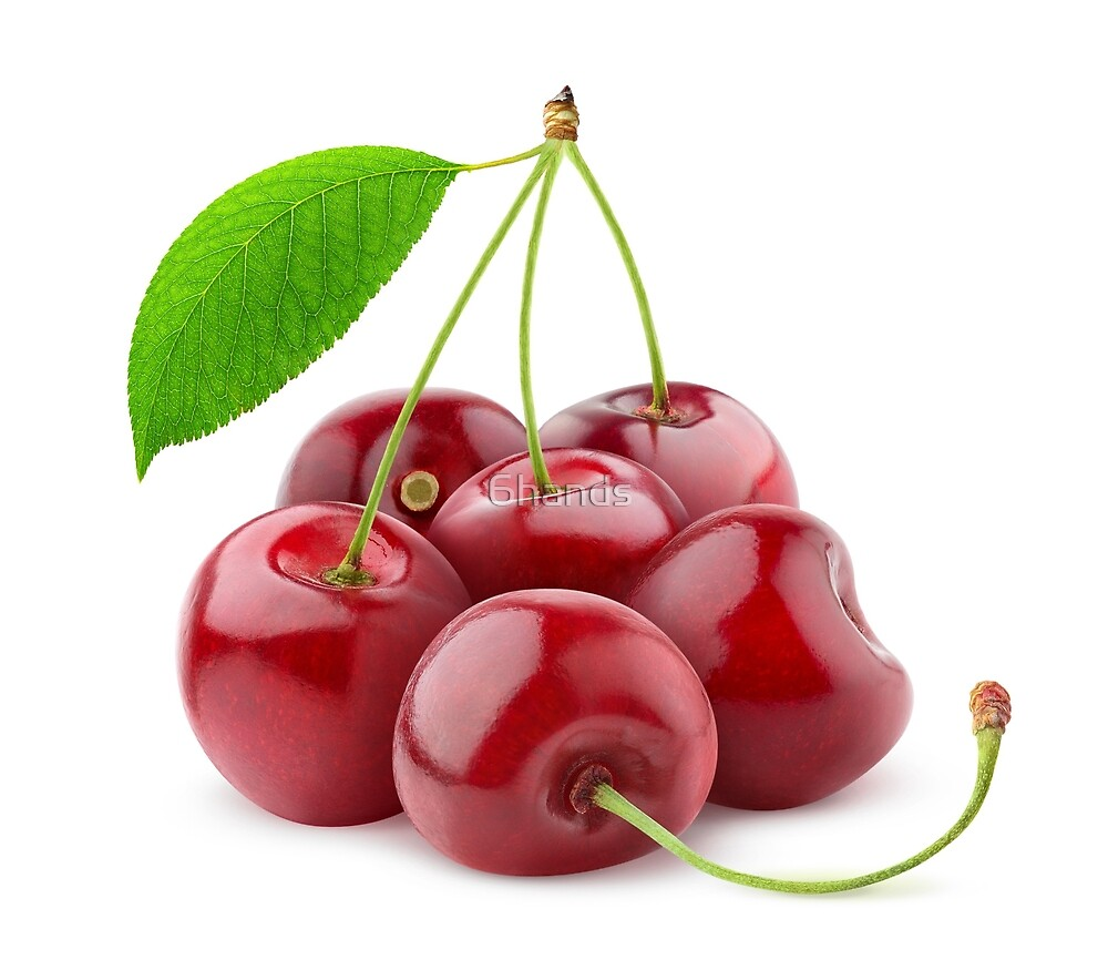 Pile of sweet cherries by 6hands