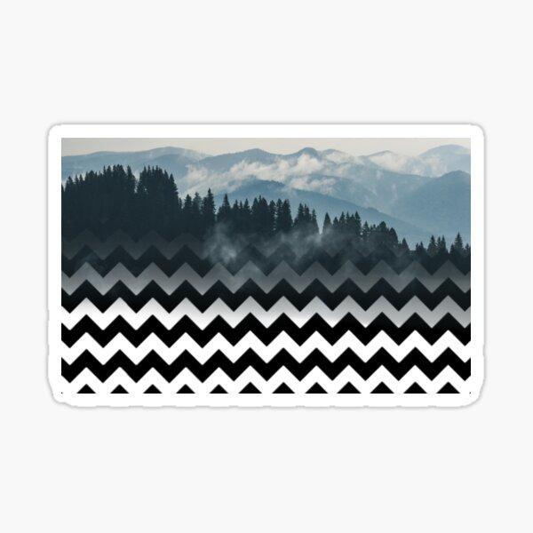 Mountains-Chevron Sticker
