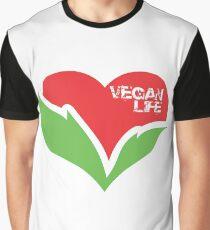 Vegan life heart Graphic T-Shirt