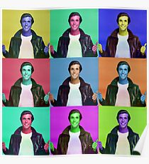 Fonzie Collage Poster