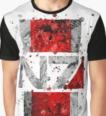 Mass Effect - N7 (Lite) Splatter Graphic T-Shirt