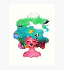 Sharpie Sea Art Print