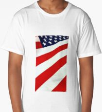 Red, White, and Blue Long T-Shirt