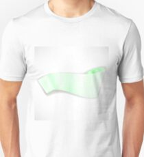 Green Paper Scroll Isolated in White Background. Green Paper Empty Banner. T-Shirt